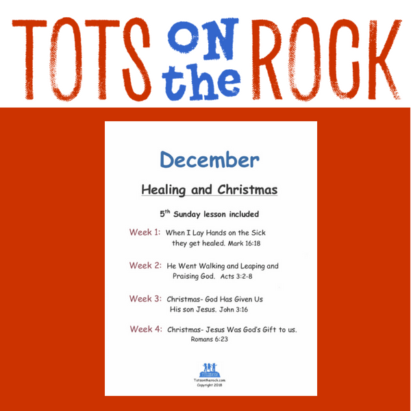 december sunday school lessons about healing and christmas